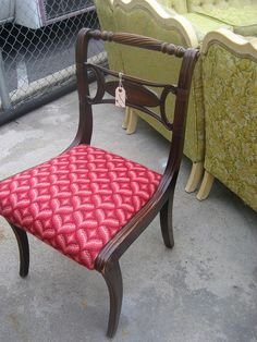 Needlepoint Bargello dining room chair... by Molly Loot, via Flickr