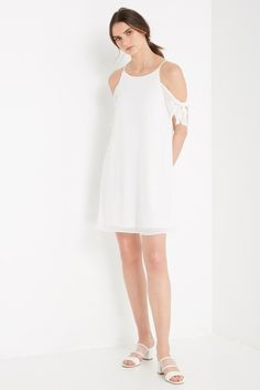 Madalyn Cold Shoulder Swing Dress