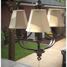 Garden oasis electric chandelier for gazebo patio light fixtures design craft weld outdoor 3 light chandelier aloadofball Images