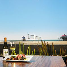 Sandy's Beach Grill - Huntington Beach.   My new favorite restaurant!  It's below Duke's @ the H.B. Pier.