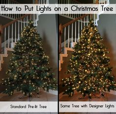 How to Put Christmas Lights on a Christmas Tree for a designer look, extra sparkle, and extra flair. Your tree should be glowing!