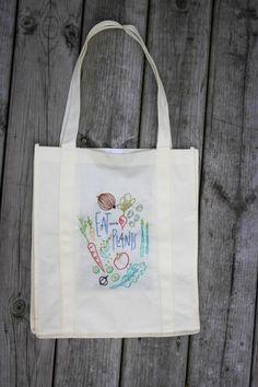 Embroidered Reusable Grocery Bag DIY