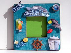 Custom Cruise Picture Frame by AuriesDesigns.etsy.com #cruise #custom #personalized #cruiseideas #pictureframe #portofcall #gifts #photoframe #handmade
