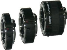 Amazon.com: Kenko Auto Extension Tube Set DG 12mm, 20mm, and 36mm Tubes for Nikon AF Digital and Film Cameras - AEXRUBEDGC: Camera & Photo
