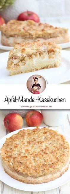 This apple-almond cheesecake recipe is a delicious and simple tasty .- Dieses Apfel-Mandel- Käsekuchen Rezept ist eine köstliche und einfache Leckere… This apple-almond cheesecake recipe is a … - Banana Dessert Recipes, Healthy Dessert Recipes, Health Desserts, Baby Food Recipes, Cookie Recipes, Almond Cheesecake Recipe, Cheesecake Recipes, Apple Cheesecake, Desserts Sains