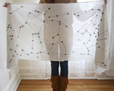 Embroidered Constellation Scarf