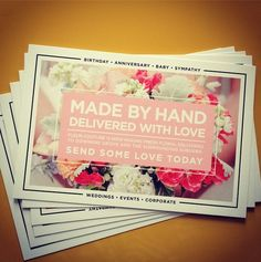 Beautful promotional postcards by Greenstar Paperie.