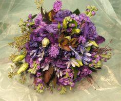 Purple shades bouquet.  Gordon Florist Baltimore Wedding Bouquets, Wedding Flowers, Baltimore, Special Day, Floral Wreath, Shades, Wreaths, Purple, Decor