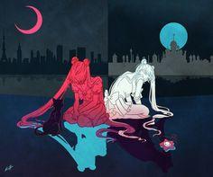 Great Responsibility - Sailor Moon Art Print by Kim Herbst