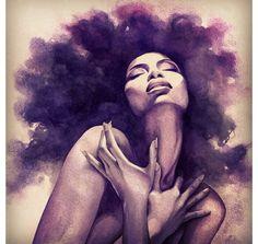 Pin by herta on art art, black art, natural hair art. Black Girl Art, Black Women Art, Art Women, Natural Hair Art, Natural Hair Styles, Natural Beauty, Art Afro Au Naturel, Art Noir, Arte Black