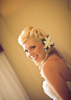 Flowers, Hair, White, Dress, Makeup, Bride, Yellow, Flower, Jewelry, Inspiration, Board, Strapless, Silver, Myheartistry makeup