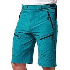 "Wespornow Men's-Outdoor-Cargo-Hiking-Climbing-MTB-Shorts (Blue, S(Waist:29""~31"", Hips:35""~37"")) Mtb Shorts, Denim Shorts, Sport Fashion, Fashion Men, Shorts With Pockets, Trousers, Pants, Bermuda Shorts, Athletic Wear"
