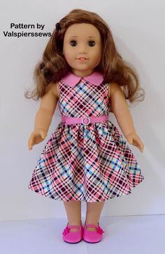1804 The 18 Dress Combo Lined Bodice and Unlined image 4 Sewing Doll Clothes, Girl Doll Clothes, Doll Clothes Patterns, Clothing Patterns, Girl Dolls, Ag Dolls, Doll Patterns, American Girl Dress, American Doll Clothes