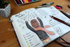 Creative mood tracker Bullet Journal, Bujo.