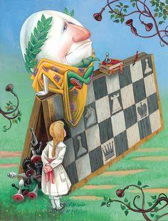 "Illustrator Maxim Mitrofanov Author Lewis Carroll fairy tale ""Alice in Wonderland"" Country Russia Year 2011 Publisher Rosman"