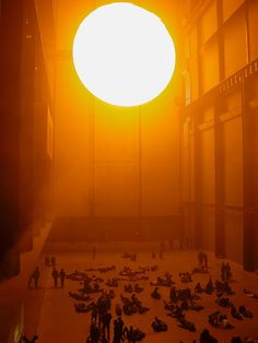 Olafur Elliasson - The Weather Project at the Tate Modern turbine hall.