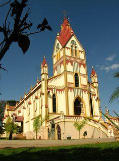 Igreja Matriz de  Águas de Santa Bárbara - SP, Brasil