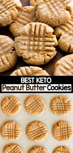 Sugar Free Peanut Butter Cookies, Classic Peanut Butter Cookies, Vegan Peanut Butter Cookies, Peanut Butter Fat Bombs, Paleo Cookies, Keto Dessert Easy, Keto Desserts, Keto Snacks, Peanut Butter Recipes