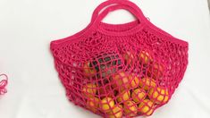 Fishnet bag made easy mesh bag market market bag - Punto Red Crochet, Irish Crochet, Crochet Handbags, Crochet Purses, Crochet Stitches Patterns, Crochet Designs, Crochet Bowl, Knit Crochet, Crochet Hooded Scarf