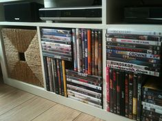 Efficient DVD storage solution for EXPEDIT closet (ikea)
