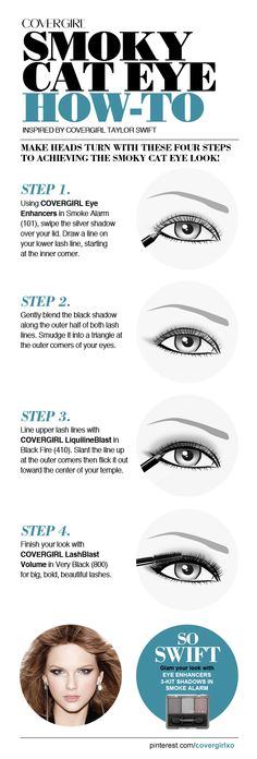 Make heads turn with these four steps to achieving the Smoky Cat Eye!