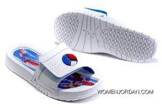 8628b065cfee74 Discount Air Jordans 8 Retro White Blue Red Hydro Slide Sandals Latest