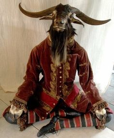 Discover Carmine Oddities Boutique in Orlando, Florida: Human skulls and a stuffed goat made into a rocking chair can be found at this strange little store. Magical Creatures, Fantasy Creatures, Profile Photography, Goat Art, Masquerade Costumes, Occult Art, Demonology, Baphomet, Creepy Cute