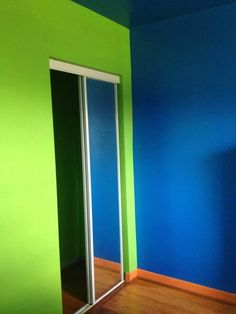 Pre-Flames paint for boys Hot Wheels Themed Bedroom. Paint is by Valspar (semi-gloss) Cosmic Blue (blue) Autum Gala (orange) Awakening (green) Blue Room Paint, Bedroom Paint Colors, Blue Rooms, Car Themed Bedrooms, Bedroom Themes, Hot Wheels Bedroom, Blue Accent Walls, Minimalist Bed, Bedroom Green