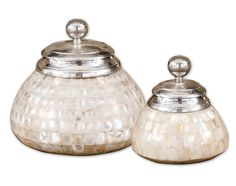 Mother of Pearl Canisters