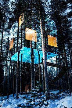 Tree house in Sweden.