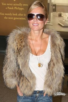 Geri Halliwel #fur #fashion