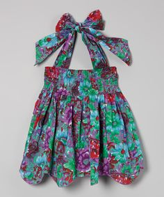 Girls' Sundress Floral Green Dresses for Girls Available in size 2T to Girls' 9 www.ACheekyBaby.com