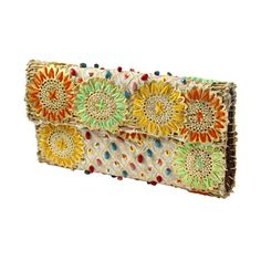 hand embroidered beads clutch bag