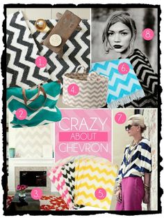 """Kensington-Laine is """"Crazy about Chevron"""" Take a peek at our chevron weekender bags, totes, Christmas stockings and tree skirts, jewelry cases and so much more...Personalizing them takes them from ordinary to extraordinary! Great gift items for this holiday season - Prices range from $15.95 to $35.95 -"""