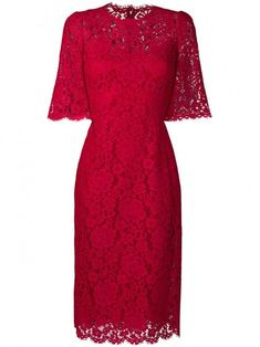Check out Dolce & Gabbana with over 2 items in stock. Shop Dolce & Gabbana floral lace dress today with fast Australia delivery and free returns. Day Dresses, Formal Dresses, Plus Size Vintage, Floral Lace Dress, Red Lace, Fashion Dresses, Gowns, Dress Red, Fashion Design