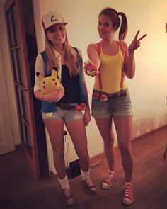 Ash and Misty funny pokemon costume