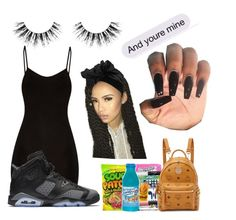 """""""And your mine"""" by akawardmermaid12 ❤ liked on Polyvore featuring Yves Saint Laurent, BasicGrey, NIKE, MCM and Velour Lashes"""