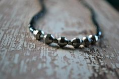 Silver and Grey Mens Beaded Necklace for Man  by letemendia, $31.50