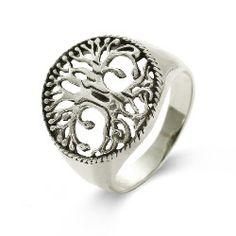 Sterling Silver Tree of Life Ring, $62 #sterlingsilverring