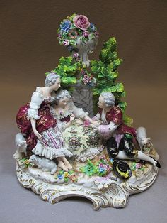 German Sitzendorf porcelain group
