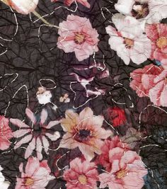 Simple Luxuries Collection Fabric Foil Floral ChiffonSimple Luxuries Collection Fabric Foil Floral Chiffon,