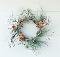 Excerpted from The Wreath Recipe Book by Alethea Harampolis and Jill Rizzo (Artisan Books). Copyright © Photographs by Paige Green. Holiday Wreaths, Christmas Decorations, Holiday Decor, Diy Wreath, Door Wreaths, Wreath Making, California Christmas, Arte Floral, How To Make Wreaths