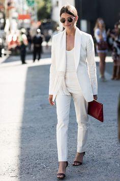 Evening inspiration – white suit by Altuzarra