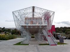 1024 architecture: temporary restaurant on l'île seguin, paris - designboom | architecture