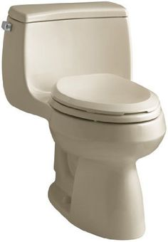 KOHLER K-3615-33 Gabrielle Comfort Height One-Piece Elongated 1.28 GPF Toilet with AquaPiston Flush Technology and Left-Hand Trip Lever, Mexican Sand * Continue to the product at the image link.