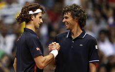 globoesporte - FOTOS: Veja as imagens do jogo exibição entre Guga e Djokovic - fotos em tênis