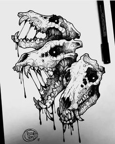 Ideas Drawing Sketches Skull Tat – Ideas Drawing Sketches Skull Tat – - Sites new Creepy Drawings, Dark Art Drawings, Drawing Sketches, Cool Drawings, Drawing Ideas, Creepy Sketches, Tattoo Sketch, Tattoo Drawings, Arte Horror