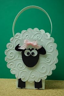 "Tracy's Card Closet: Just for ""EWE"" - shaped card idea Scrapbooking, Scrapbook Cards, Sheep Cards, Punch Art Cards, Cricut Cards, Animal Cards, Kids Cards, Cute Cards, Creative Cards"