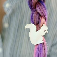 Learn how cut and dye your hair - mine's purple and pink ombre!