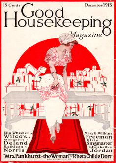 Coles Phillips - Good Housekeeping Magazine cover (December 1913) fadeaway